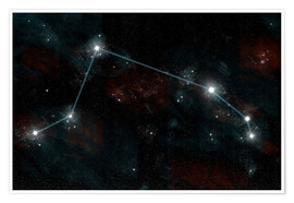 Premiumposter  Artist's depiction of the constellation Aries the Ram. - Marc Ward