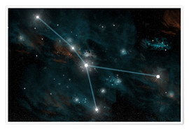 Premiumposter  An artist's depiction of the constellation Cancer. - Marc Ward