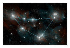Premiumposter  Artist's depiction of the constellation Capricorn the Sea Goat. - Marc Ward