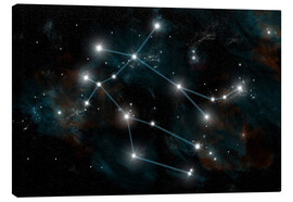 Canvastavla  Artist's depiction of the constellation Gemini the Twins. - Marc Ward