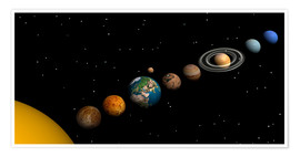Premiumposter  Planets of the solar system - Elena Duvernay