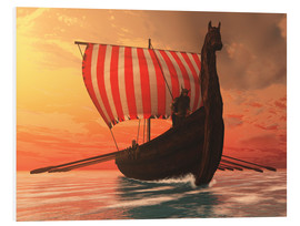 PVC-tavla  A Viking longboat sails to new shores - Corey Ford