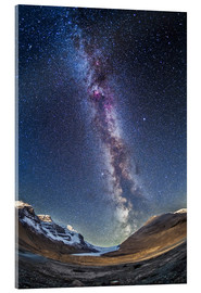 Akrylglastavla  Milky Way over the Columbia Icefields in Jasper National Park, Canada. - Alan Dyer