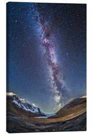 Canvastavla  Milky Way over the Columbia Icefields in Jasper National Park, Canada. - Alan Dyer