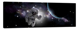 Canvastavla  Astronaut floating in outer space - Marc Ward