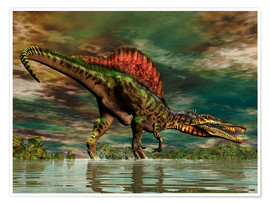 Premiumposter  Spinosaurus from the Cretaceous period - Philip Brownlow