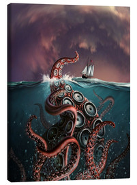 Canvastavla  A fantastical depiction of the legendary Kraken. - Jerry LoFaro