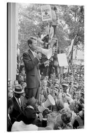 Aluminiumtavla  Robert F. Kennedy talks about equal rights to a crowd - John Parrot
