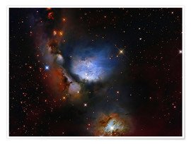 Premiumposter Messier 78, a reflection nebula in the constellation Orion.
