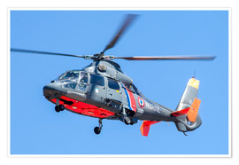 Premiumposter  AS 365 Dauphin helicopter of the French Navy - Timm Ziegenthaler