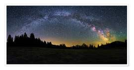 Premiumposter Milky Way arching over the trees