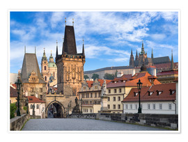 Premiumposter  Prague Castle and Old Town in summer - Jan Christopher Becke