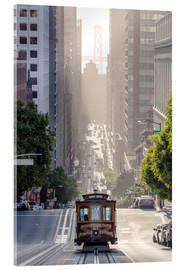 Akrylglastavla  Cable car in San Francisco - Matteo Colombo