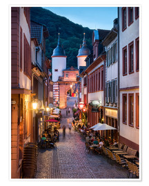 Premiumposter  Romantic Old Town at night in Heidelberg, Germany - Jan Christopher Becke