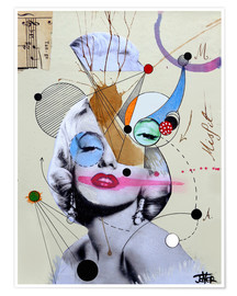 Premiumposter Marilyn for the abstract thinker