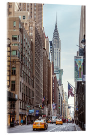 Akrylglastavla  Road at the Chrysler Building - Matteo Colombo