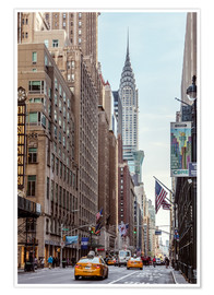 Premiumposter  Road at the Chrysler Building - Matteo Colombo