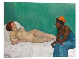 PVC-tavla  The White and the Black (La Blanche et la Noire) - Felix Edouard Vallotton
