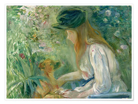 Premiumposter Girl with Dog