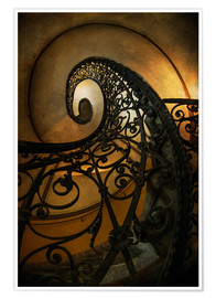 Premiumposter Old spiral staircase