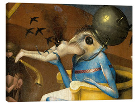 Canvastavla  Garden of Earthly Delights, Hell (detail) - Hieronymus Bosch