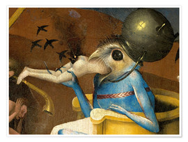 Premiumposter  Garden of Earthly Delights, Hell (detail) - Hieronymus Bosch