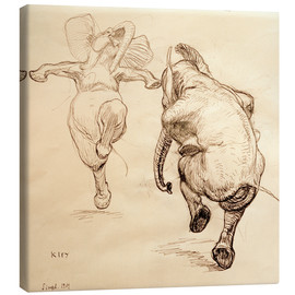 Canvastavla  Two dancing elephant - Heinrich Kley