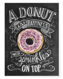 Premiumposter  A Donut is Happiness - Lily & Val