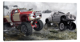 Canvastavla  Monster Truck Race - Kalle60