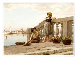 Premiumposter Venetian Fruit Sellers