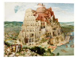 Akrylglastavla  The Tower of Babel - Pieter Brueghel d.Ä.
