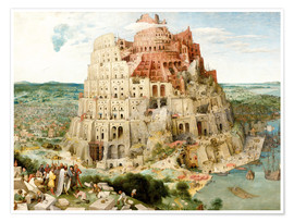 Poster  The Tower of Babel - Pieter Brueghel d.Ä.