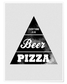 Premiumposter  Food graphic beer pizza logo parody - Nory Glory Prints