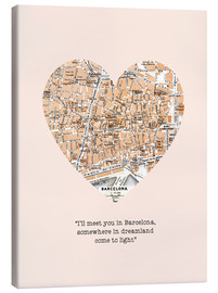Canvastavla  I'll meet you in Barcelona - Romance Typo - Nory Glory Prints