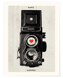 Poster  Vintage retro camera - Nory Glory Prints