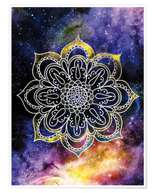Premiumposter  Space mandala - Nory Glory Prints