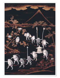 Poster  Procession of frogs