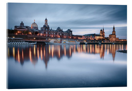 Akrylglastavla  Dresden old town at the blue hour - Philipp Dase