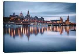 Canvastavla  Dresden old town at the blue hour - Philipp Dase