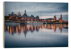 Trätavla  Dresden old town at the blue hour - Philipp Dase