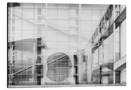 Aluminiumtavla  Reflection on Paul Löbe House in Berlin's government district - Philipp Dase