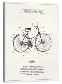 Canvastavla  Vintage parts of a bicycle anatomy - Nory Glory Prints