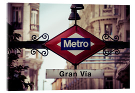 Akrylglastavla  Metro sign - Madrid
