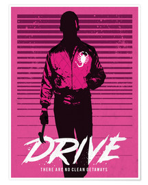 Poster  Drive Ryan Gosling movie inspired art print - Golden Planet Prints