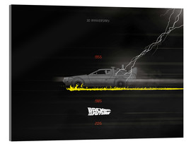 Akrylglastavla  30th anniversary Back to the future movie inspired art - Golden Planet Prints