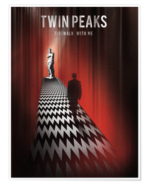 Poster  Twin Peaks, firewalk with me - Golden Planet Prints