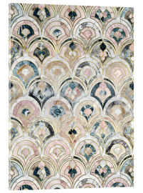 Akrylglastavla  Art Deco Marble Tiles in Soft Pastels - Micklyn Le Feuvre