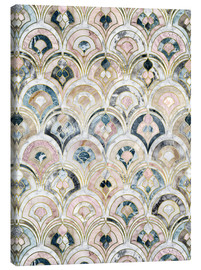 Canvastavla  Art Deco Marble Tiles in Soft Pastels - Micklyn Le Feuvre