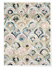 Premiumposter  Art Deco Marble Tiles in Soft Pastels - Micklyn Le Feuvre
