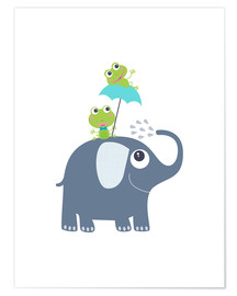 Premiumposter Frogs and elephant